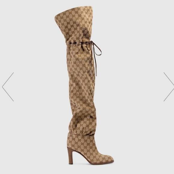 Gucci Shoes   Gucci Canvas Boots   Poshmark